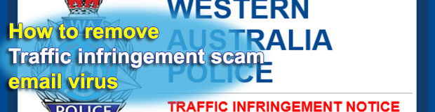 Traffic Infringement Notice scam emails