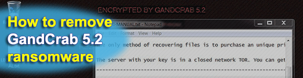 """Encrypted by GandCrab 5.2"" – remove and decrypt ransomware virus"