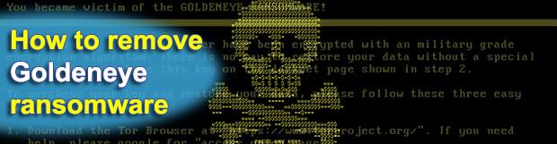 Goldeneye ransomware: decrypt and remove trojan virus