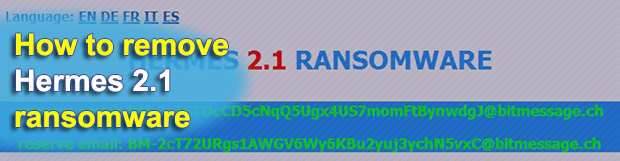 Hermes 2.1 ransomware: how to recover .HRM files