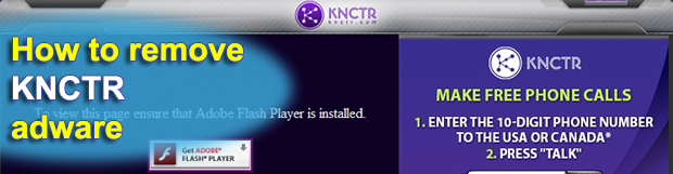 How to uninstall KNCTR program from Windows computer