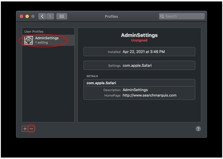 Remove Malicious User Profile