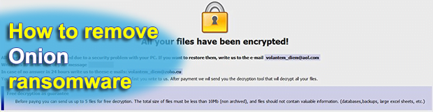 How to remove Onion ransomware virus and decrypt .onion files
