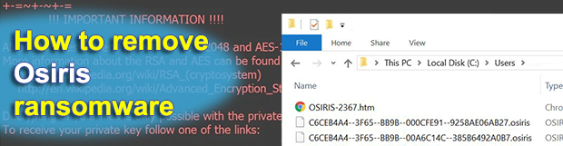 Osiris ransomware: decrypt and remove .osiris file virus