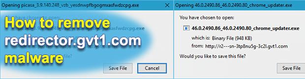 Remove redirector.gvt1.com malware in Chrome, Firefox, IE