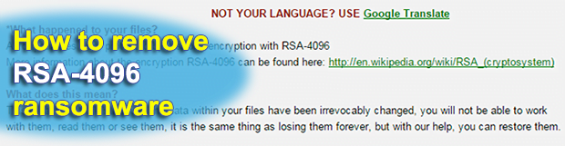 Remove and decrypt RSA-4096 ransomware virus