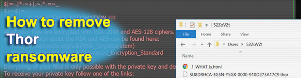 Thor file: restore encrypted .thor extension files