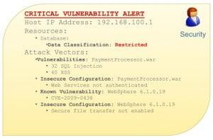 Results - critical vulnerability alert