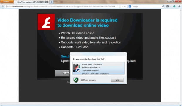 Landing page for 'Video Downloader'