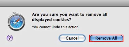 Safari cookies removal proper