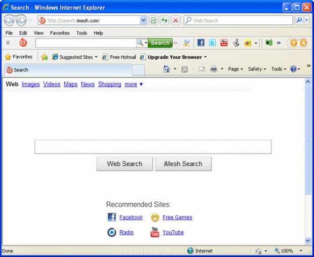 iMesh Search taking over Internet Explorer