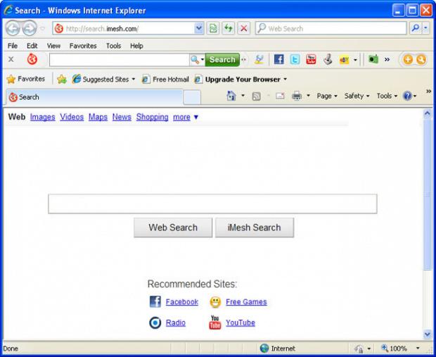 iMesh Search taking over Internet Explorer