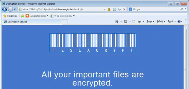 TeslaCrypt Decryption Service site