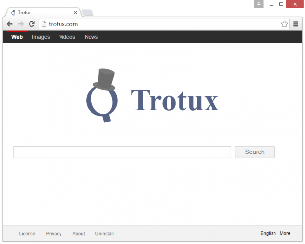 Trotux.com is a rogue search engine