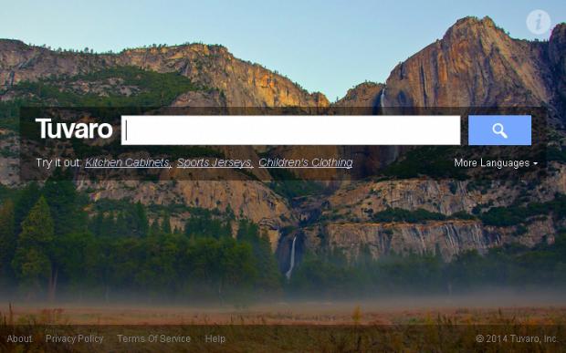 Screenshot of Tuvaro start page