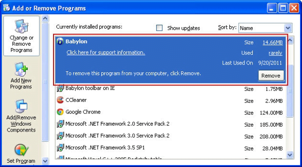 how to delete secure search windows 7