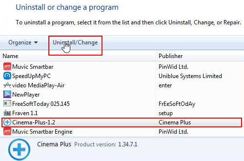 Uninstall Cinema-Plus