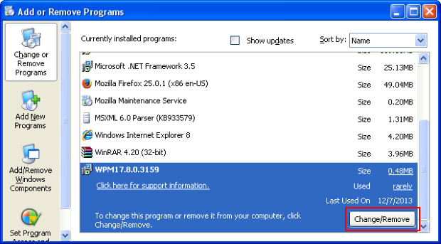 Uninstall the program related to iStart123 virus