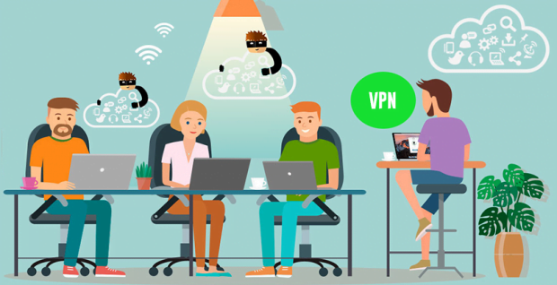People use VPN services when going online from public networks, thereby creating an extra layer of protection