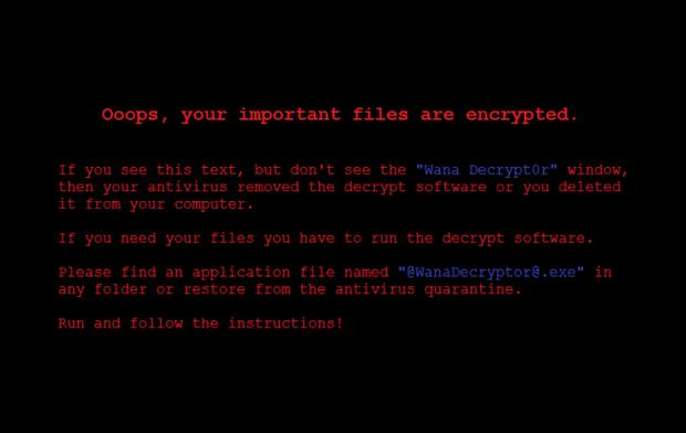 Wana Decrypt0r desktop background