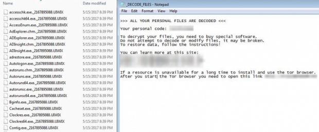 WannaSister UIWIX ransomware symptoms