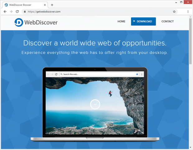 The publisher of WebDiscover Browser describes the app as the best thing since sliced bread