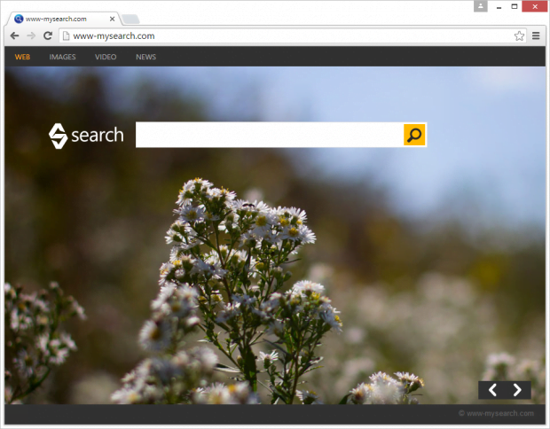 Another possible landing page variant is www-mysearch.com