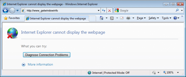 IE browser alert generated by www_getwindowinfo virus