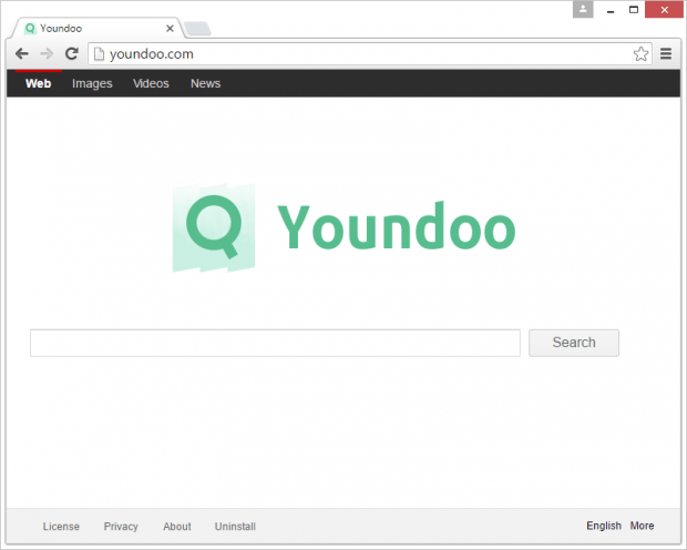 Youndoo set as Chrome homepage without authorization